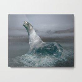 Seal imagines Metal Print