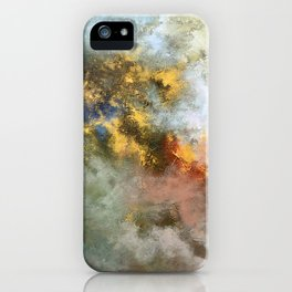 Colorful Abstract Clouds No.1 (left) iPhone Case