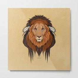 Tribal Lion Metal Print