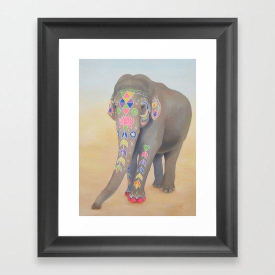 Painted Lady, Sujatha Framed Art Print