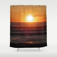 ireland Shower Curtains featuring Ireland by American Artist Bobby B