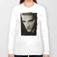 elvis Long Sleeve T-shirts featuring ELVIS by John McGlynn