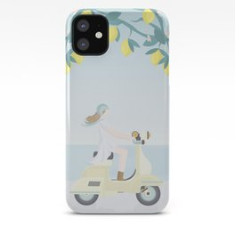 Scooter ride in the sun  past lemons and lemon trees iPhone Case