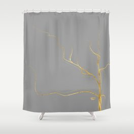 Kintsugi 3 #art #decor #buyart #japanese #gold #grey #kirovair #design Shower Curtain