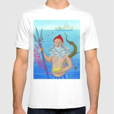 Ruler of the Deep Mens Fitted Tee MEDIUM White