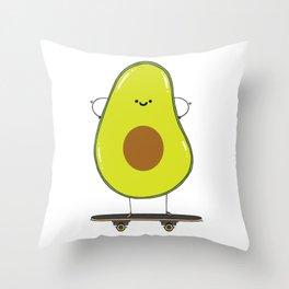 Avocado skater Throw Pillow