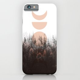 Peach Moon Phases Redwoods iPhone Case
