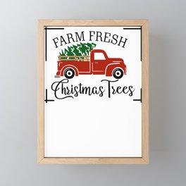 Farm Fresh Christmas Trees Framed Mini Art Print