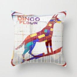 Dingo Flour Throw Pillow
