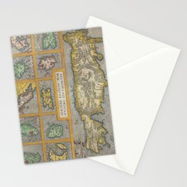 Vintage Map of The Islands of Greece (1584) Stationery Cards