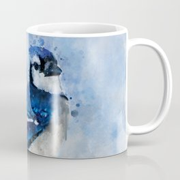 Watercolour blue jay bird Coffee Mug