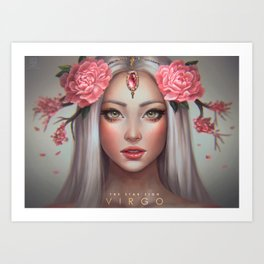 Virgo - The Star Sign Art Print