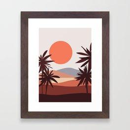 Abstract Landscape 12 Portrait Framed Art Print
