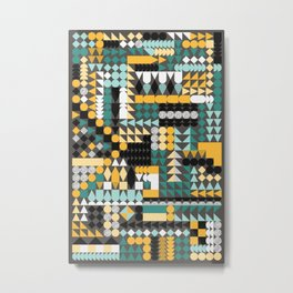 Geometric Abstraction Metal Print