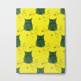 Owl On A Branch Metal Print