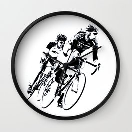 Bicycle racers into the curve... Wall Clock