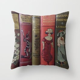 Decorated Spines II Throw Pillow