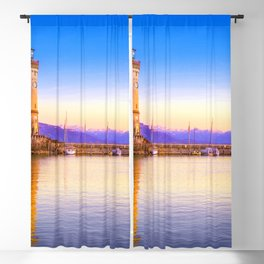 The Lindau Lighthouse And The Bavarian Lion Germany Ultra HD Blackout Curtain