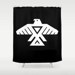 Thunderbird flag - Inverse edition version Shower Curtain