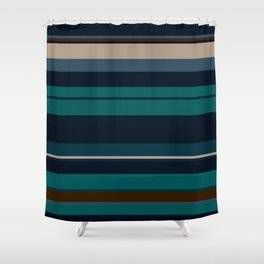 minimalistic horizontal stripes pattern hbi Shower Curtain