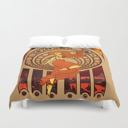 Heart of Fire Duvet Cover