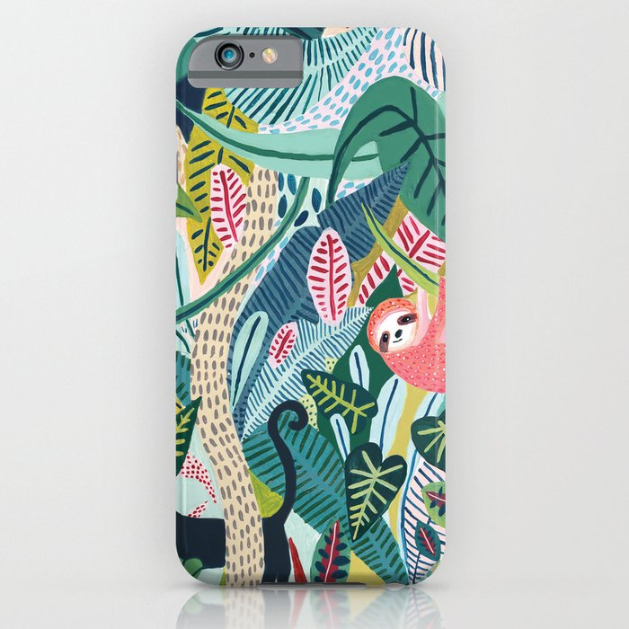 Jungle Sloth & Panther Pals iPhone Case
