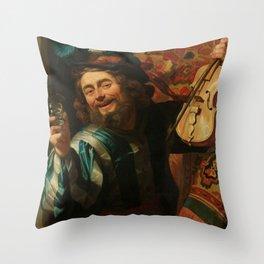 """Gerard van Honthorst """"The Merry Fiddler"""" Throw Pillow"""