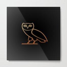 OvO Owl Drake Metal Print