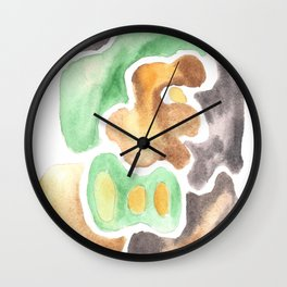 170623 Colour Shapes Watercolor 4 Wall Clock
