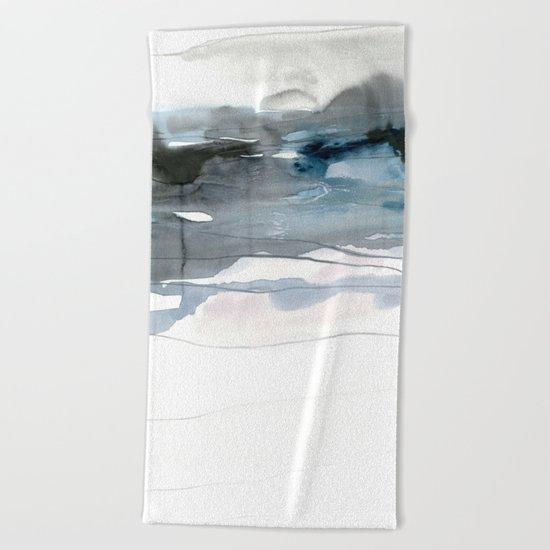 dissolving blues 2 Beach Towel