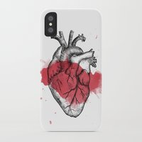 anatomical heart iPhone & iPod Cases featuring Anatomical heart - Art is Heart  by AdaLovesTheRain