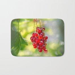 Red currant bunch Bath Mat