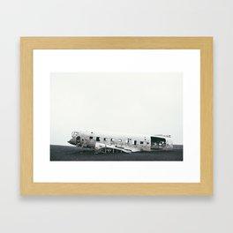 Abandoned Plane Iceland Framed Art Print