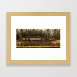 Abandoned Mobile Home Framed Art Print