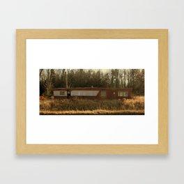 Abandoned Mobile Home Framed Art Print