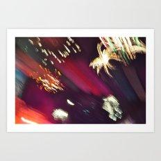 Fireworks Blur I Art Print