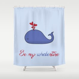 Whalentine Shower Curtain