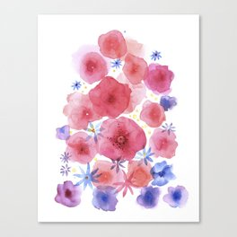 Caramel flowers Canvas Print