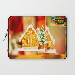 Christmas decorations in Alsace, France. Laptop Sleeve