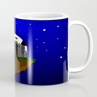 castle in the sky Mugs featuring Castle in the Sky by AjDreamCraft