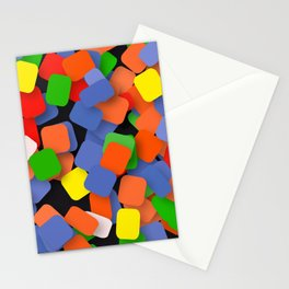 wild color pieces Stationery Cards