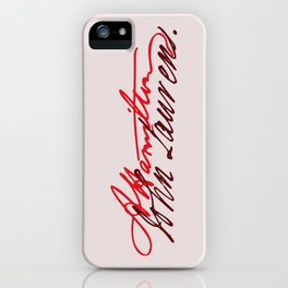 Alexander Hamilton and John Laurens signature iPhone Case