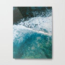 Lonely Surfer Metal Print