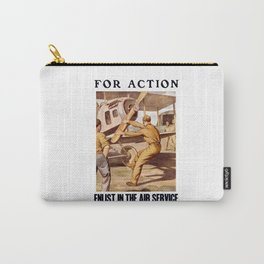 For Action - Enlist In The Air Service Carry-All Pouch