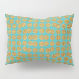 Gold Dots on Turquoise Pillow Sham