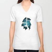 broken V-neck T-shirts featuring Broken by Charles Emlen