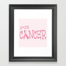 F*ck Cancer Framed Art Print