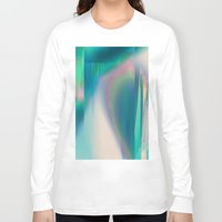 glitch Long Sleeve T-shirts featuring Pacifica glitch by La Señora