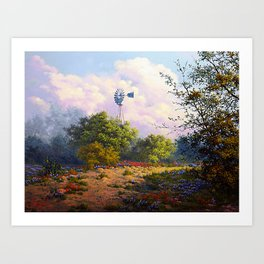 Evening at the Ranch Art Print