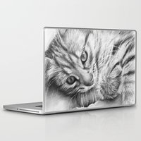 kitten Laptop & iPad Skins featuring Kitten by Olechka
